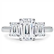 Emerald Cut 3 Stone Engagement Ring Setting | Adiamor