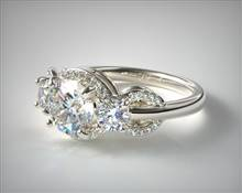 Engagement Ring in 18K White Gold 2mm Width Band (Setting Price) | James Allen