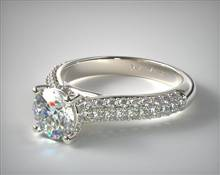 Engagement Ring in 18K White Gold 3mm Width Band (Setting Price)   James Allen