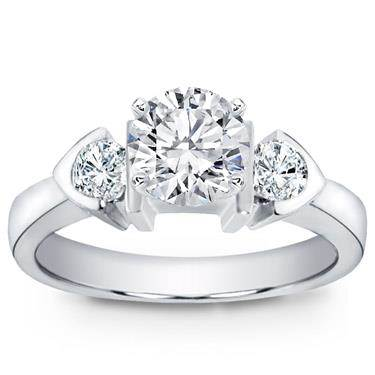 Engagement Setting with Round Diamonds