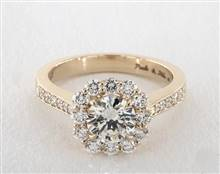 Fiery Grande Halo, Pave .74ctw Engagement Ring in 4mm 18K Yellow Gold (Setting Price) | James Allen