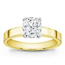 Flat Edge Solitaire Setting (3.0mm) | Adiamor