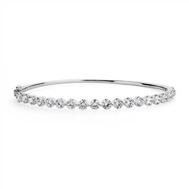 """Floating Diamond Bangle in 14k White Gold (5 ct. tw.)"""