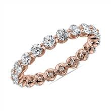 Floating Diamond Eternity Band in 14k Rose Gold (1 1/2 ct. tw.) | Blue Nile