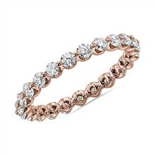 Floating Diamond Eternity Band in 14k Rose Gold (1 ct. tw.) | Blue Nile