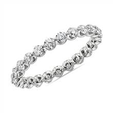 Floating Diamond Eternity Band in 14k White Gold (1 ct. tw.) | Blue Nile