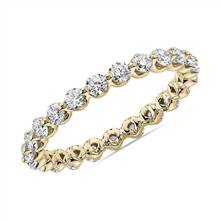Floating Diamond Eternity Band in 14k Yellow Gold (1 ct. tw.) | Blue Nile