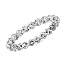 """Floating Diamond Eternity Ring in 14k White Gold - I/SI2 (1 ct. tw.)"" 