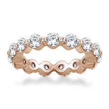 Floating Round Diamond Eternity Ring in 18K Rose Gold (2.10 - 2.55 cttw.) | B2C Jewels