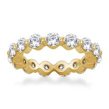 Floating Round Diamond Eternity Ring in 18K Yellow Gold (2.10 - 2.55 cttw.) | B2C Jewels