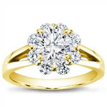 Flower Halo Diamond Engagement Setting   Adiamor