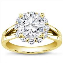 Flower Halo Diamond Engagement Setting | Adiamor