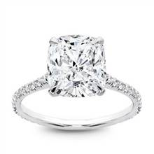 French Cut Basket Setting Diamonds 3/4 down | Adiamor
