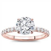 French Cut Diamond Basket Engagement Setting 2mm | Adiamor