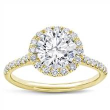 French Cut Halo For Round Diamond | Adiamor