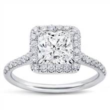 French Cut Halo for Square Diamond | Adiamor