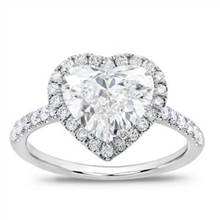 French Cut Pave Heart Halo Engagement Setting | Adiamor