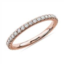 French Pave Diamond Eternity Ring in 14k Rose Gold (1/2 ct. tw.)   Blue Nile