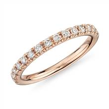 French Pave Diamond Ring in 18k Rose Gold- H/VS2 (1/3 ct. tw.) | Blue Nile