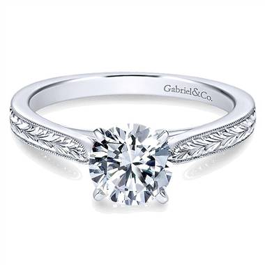 Gabriel & Co. 14K White Gold Engagement Ring