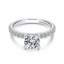Gabriel & Co. 14K White Gold Round Diamond Engagement Ring | Gabriel & Co.