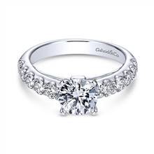 Gabriel & Co. 14K White Gold Round Diamond Engagement Ring | Gabriel & Co.