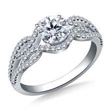 Infinity Diamond Accent Engagement Ring in Platinum | B2C Jewels