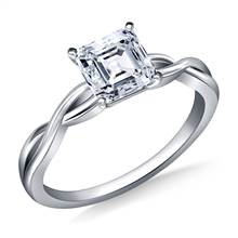 Infinity Knot Solitaire Engagement Ring in 18K White Gold (3.0 mm) | B2C Jewels