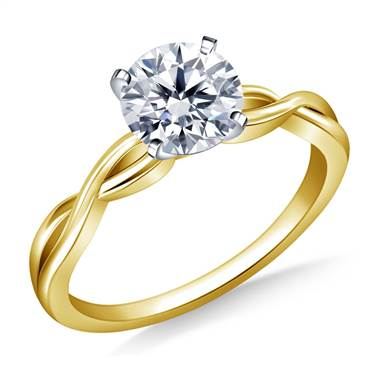 Infinity Knot Solitaire Engagement Ring in 18K Yellow Gold (3.0 mm)