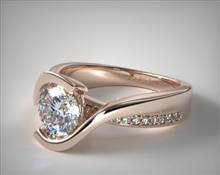 Intertwined Bypass Tension Pave Engagement Ring in 14K Rose Gold 4.3mm Width Band (Setting Price) | James Allen
