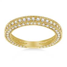 Ladies Diamond Band in 14K Yellow Gold (1.00 cttw.) | B2C Jewels