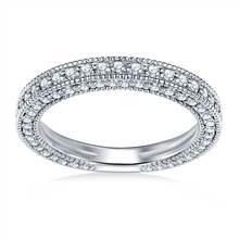 Ladies Diamond Band in 18K White Gold (1 3/8 cttw.) | B2C Jewels