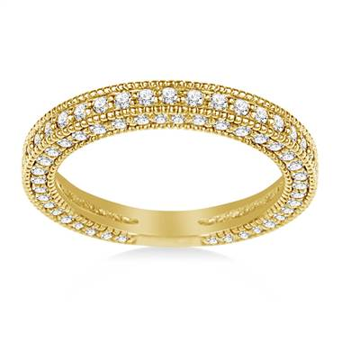 Ladies Diamond Band in 18K Yellow Gold (1.00 cttw.)