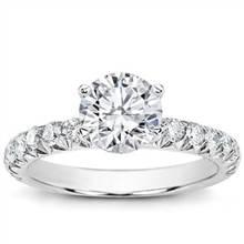 Large French Cut Diamond Engagement Setting | Adiamor
