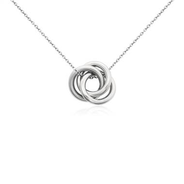 """Love Knot Pendant in Platinum"""