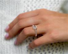 Majestic Basket & Tapered Pave Engagement Ring in 14K Rose Gold 4mm Width Band (Setting Price) | James Allen