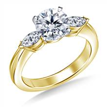 Marquise Diamond Ring in 14K Yellow Gold (1/2 cttw) | B2C Jewels