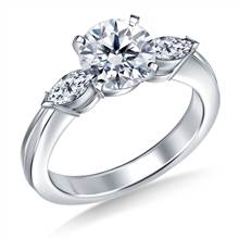 Marquise Diamond Ring in 18K White Gold (1/2 cttw) | B2C Jewels