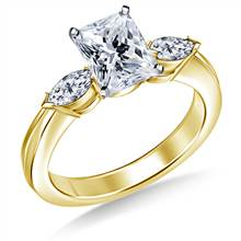 Marquise Diamond Ring in 18K Yellow Gold (1/2 cttw) | B2C Jewels