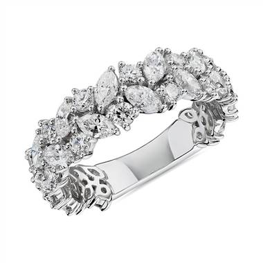"""Marquise & Round Diamond Cluster Wedding Ring in 14k White Gold (2 ct. tw.)"""