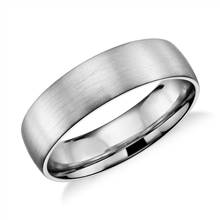Matte Classic Wedding Ring in 14k White Gold (6mm) | Blue Nile