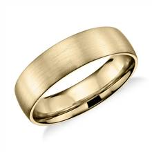 Matte Classic Wedding Ring in 14k Yellow Gold (6mm) | Blue Nile