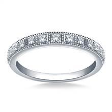 Milgrain Diamond Ladies Band in 18K White Gold (1/5 cttw.)   B2C Jewels