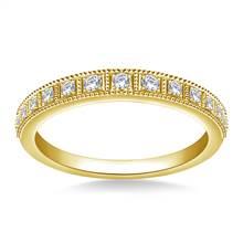 Milgrain Diamond Ladies Band in 18K Yellow Gold (1/5 cttw.)   B2C Jewels