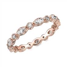 """""""Monique Lhuillier Alternating Marquise & Round Eternity Band in 18k Rose Gold (5/8 ct. tw.)"""" 