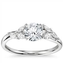 Monique Lhuillier Jardin Diamond Engagement Ring in Platinum (1/4 ct. tw.) | Blue Nile