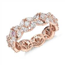 """Monique Lhuillier Petal Garland Diamond Eternity Ring in 18k Rose Gold (2 ct. tw.)"" 