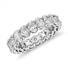 Oval Cut Diamond Eternity Ring in Platinum (4.0 ct. tw.) | Blue Nile