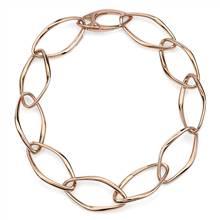 Oval Open Chain Bracelet in 18k Italian Rose Gold | Blue Nile