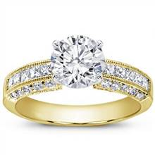 Pave and Princess-Cut Diamond Setting | Adiamor